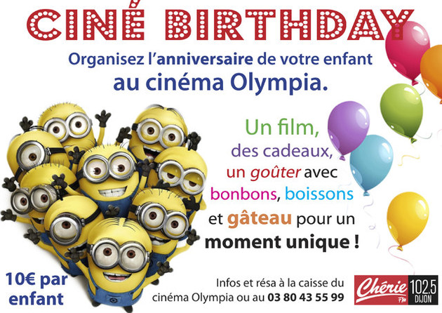 anniversaire cinema olympia dijon